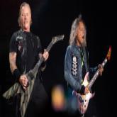James Hetfield und Kirk Hammett im Olympiastadion auf der Bühne