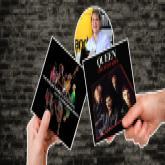 Albumcover von Queen und The Rolling Stones
